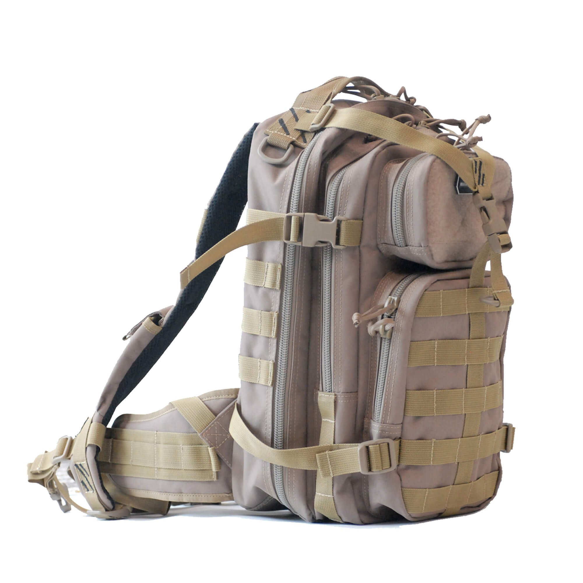 G-Outdoors, Inc. Soft Tactical Backpack with Pull-Out Rain Cover, Tan