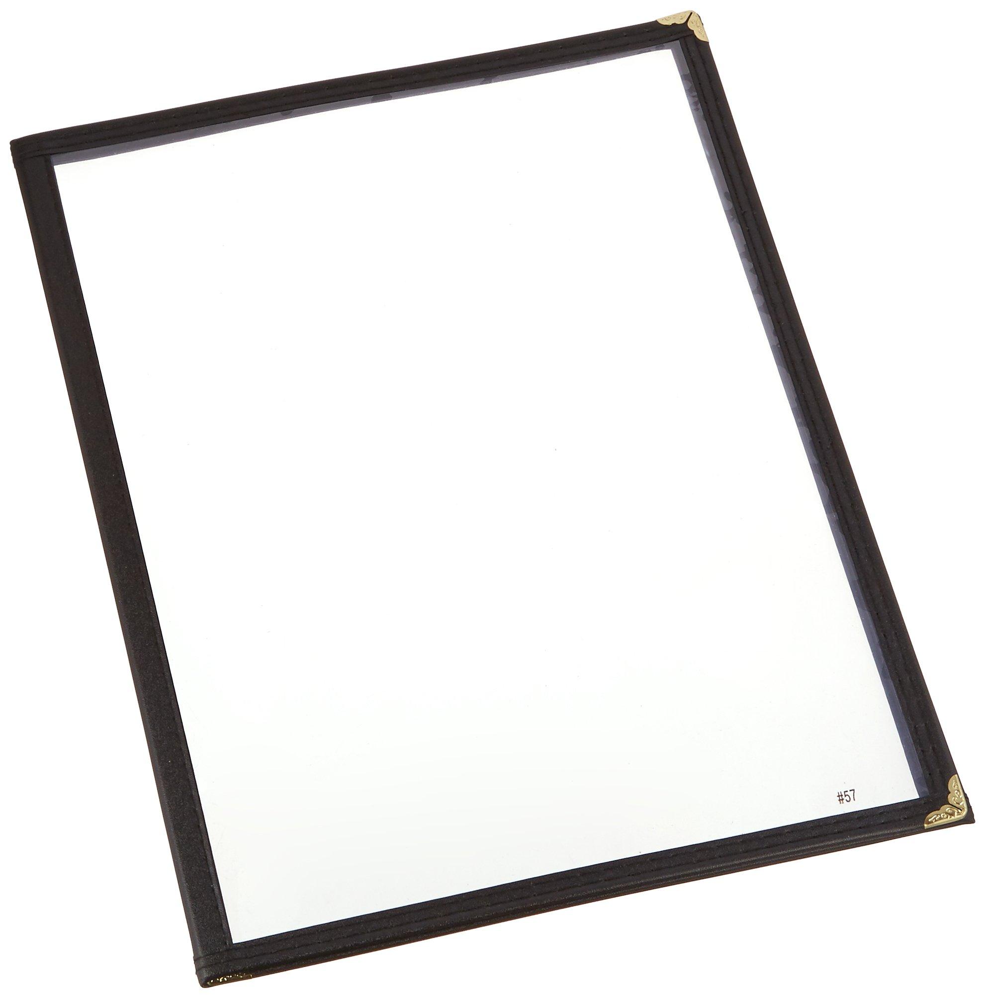 Winco Triple Fold Menu Cover, 12-Inch x 9.5-Inch, Black