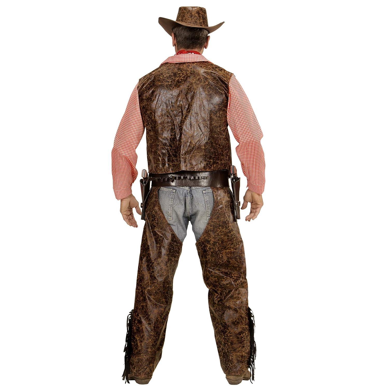 WIDMANN 05923 Adulto Camiseta Disfraz de Vaquero con Chaleco ...