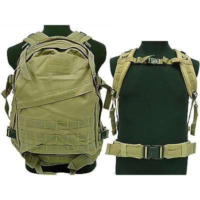3d tactique Camping Randonnée d'escalade Airsoft militaire MOLLE Sac à dos Tan