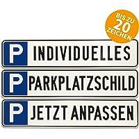 KFZ-Kennzeichen f/ür Ihren Parkplatz /& Stellplatz oder Kunden /& Besucher Betriebsausstattung24 Gepr/ägtes Parkplatzschild in Nummernschildform Kunden