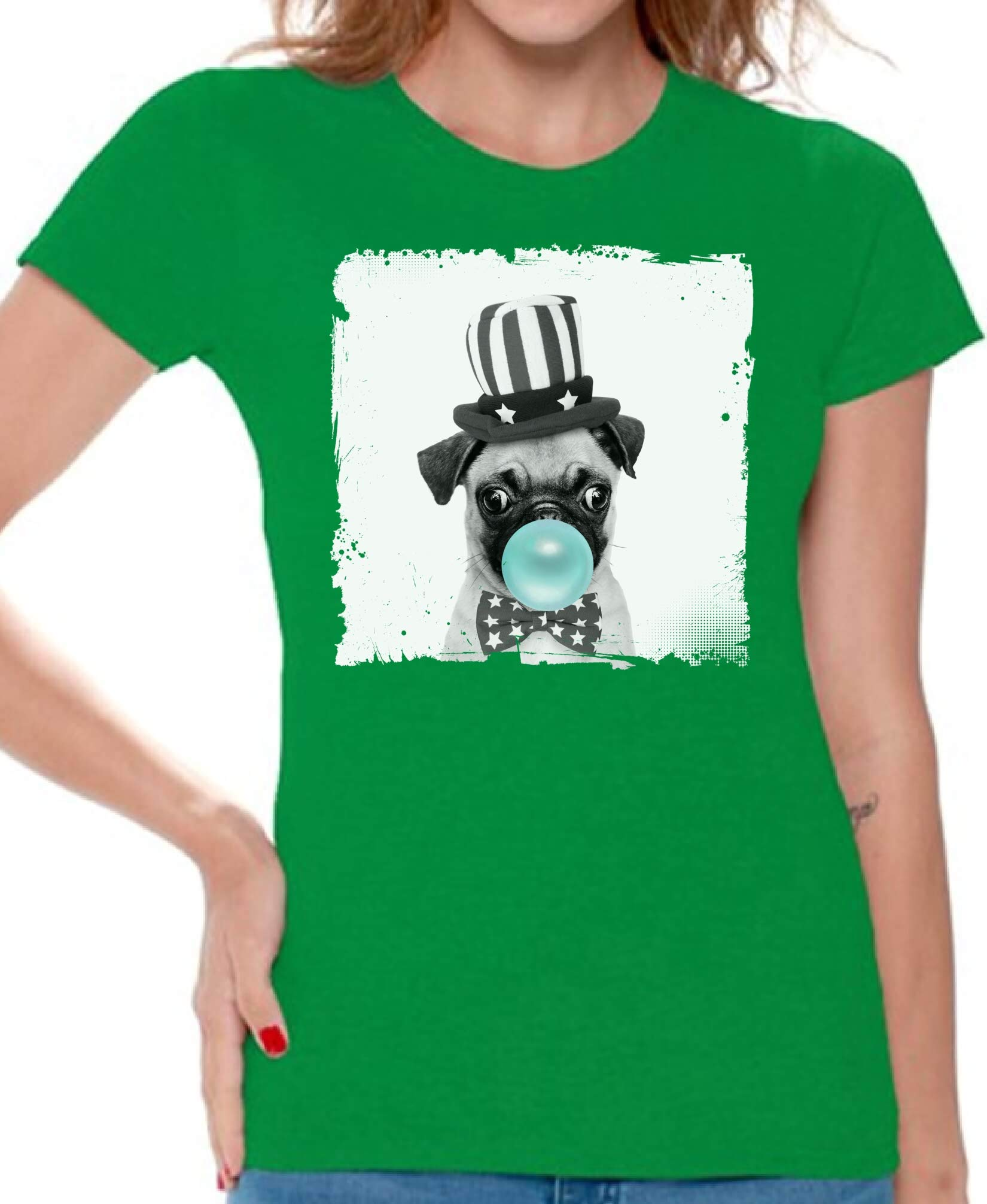 Puppy Woman Shirts Funny Animal Lovers Pug Gifts For Her Dog Shirt 4911