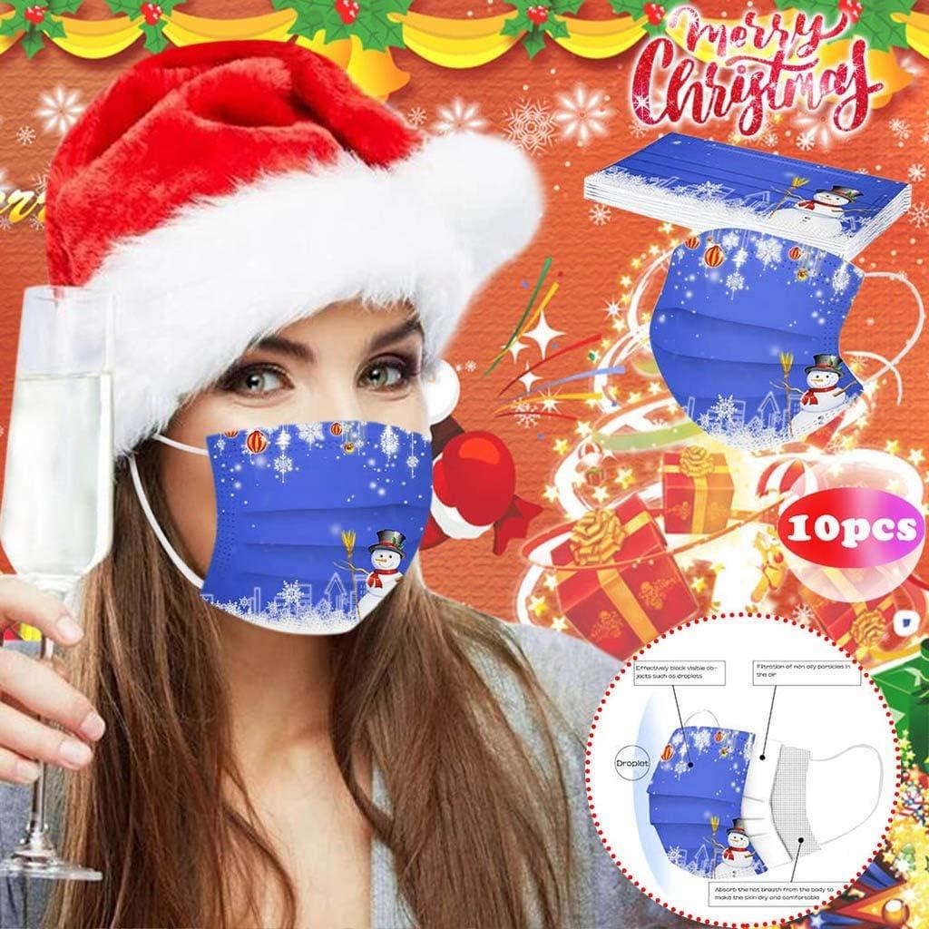 Auifor 10//20 PCS Adulte Facial 3 Couches No/ël Confort Respirante Visage