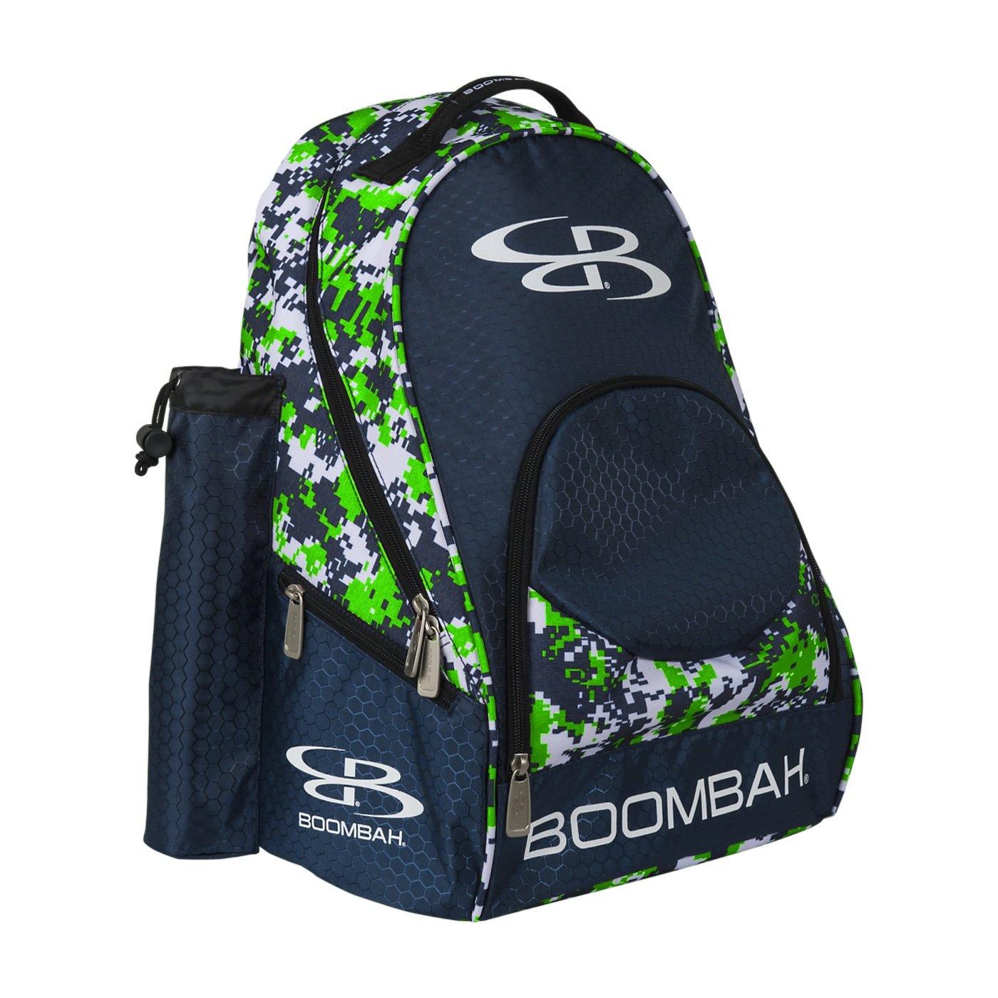 (ブームバー) Boombah Tyroシリーズ 野球/ソフトボールバットが収納できるバックパック 20x 15x10インチ 迷彩柄 20色展開 2-3/4インチまでのバットを2本収納可 B01MRR4V29 Lime Green/Navy Lime Green/Navy