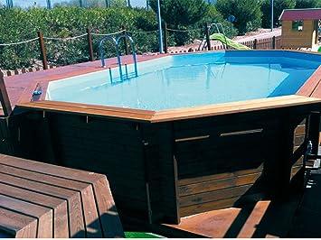 K2O Piscina de madera 645 x 410 x 130 cm + depuradora de cartucho y clorador salino: Amazon.es: Juguetes y juegos