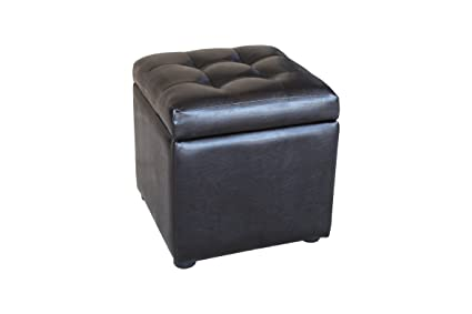 Asheville Tufted Cube Storage Ottoman / Small Storage Stool