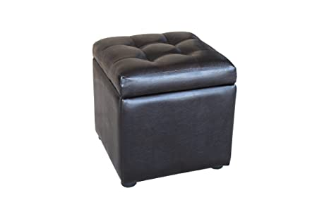 Attrayant Amazon.com: Asheville Tufted Cube Storage Ottoman / Small Storage Stool:  Kitchen U0026 Dining