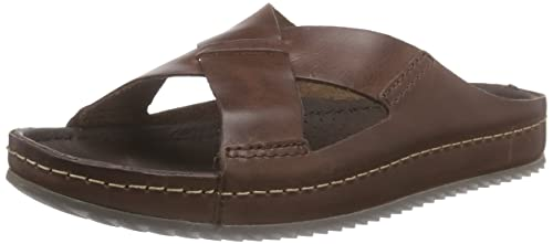 51d952c6bfbf55 Clarks - Netrix Jump, Sandalo da Uomo, Marrone (Brown Leather), 47 ...