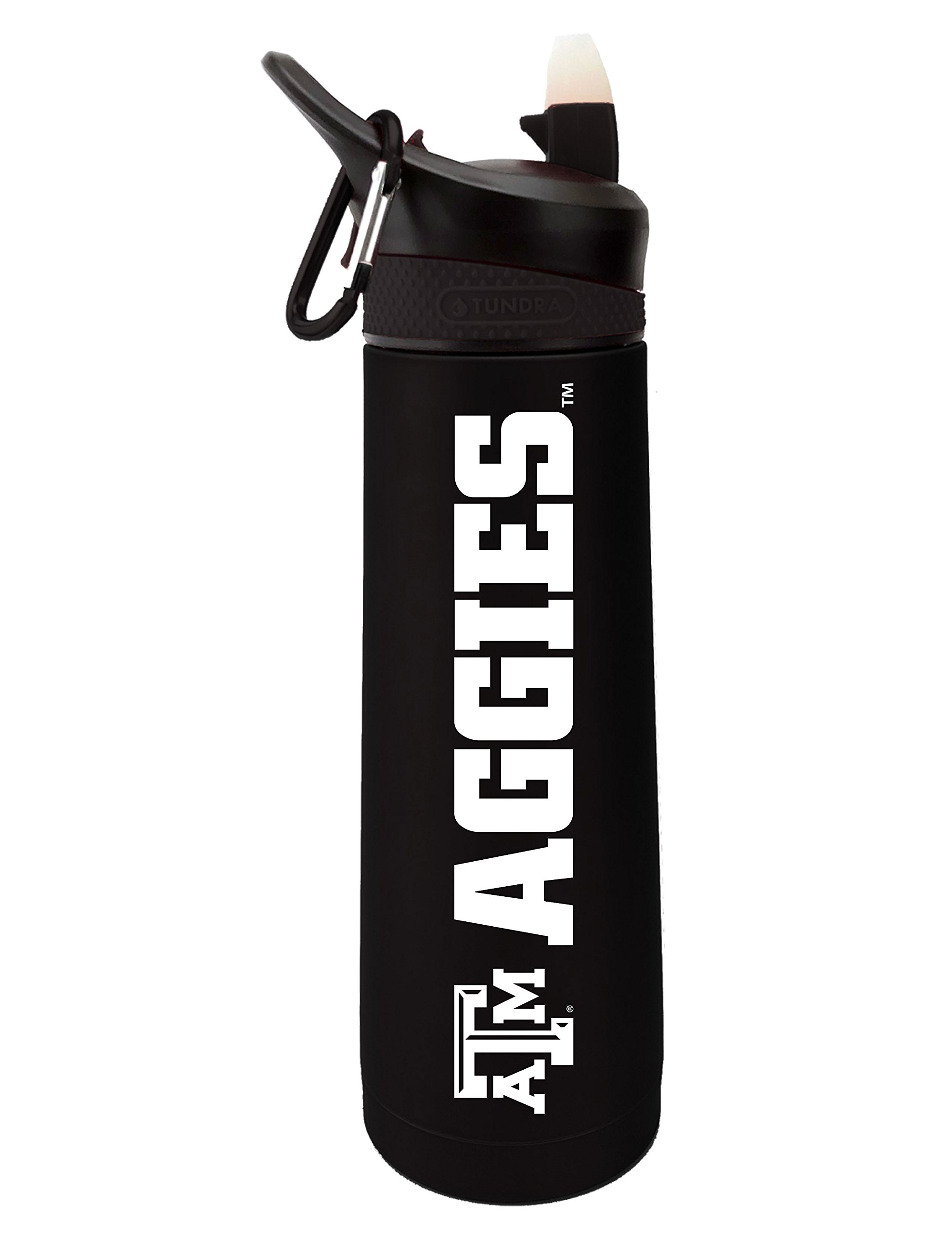 Fanatic Group Texas A&M University Dual Walled Stainless Steel Sports Bottle, Design 2 - Black