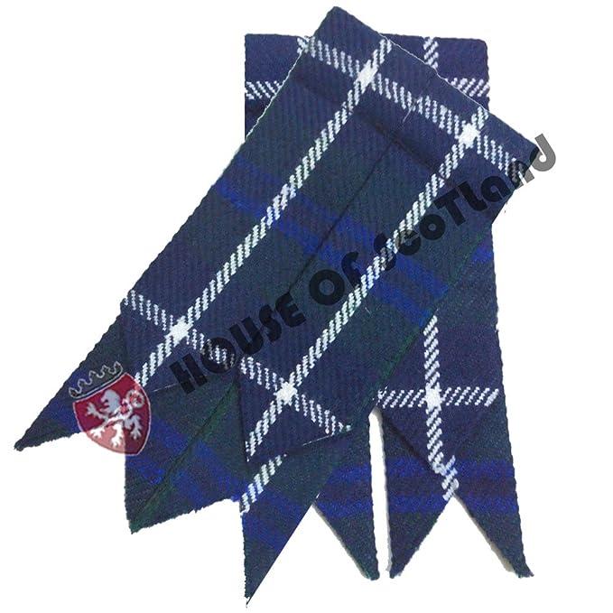 Hombre DISTINTIVOS DE Kilt Azul douglastartan / Falda Escocesa Hose Calcetines flashes Tartanes
