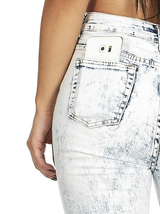 Amazon.com: Pantalones vaqueros elásticos de corte ajustado ...
