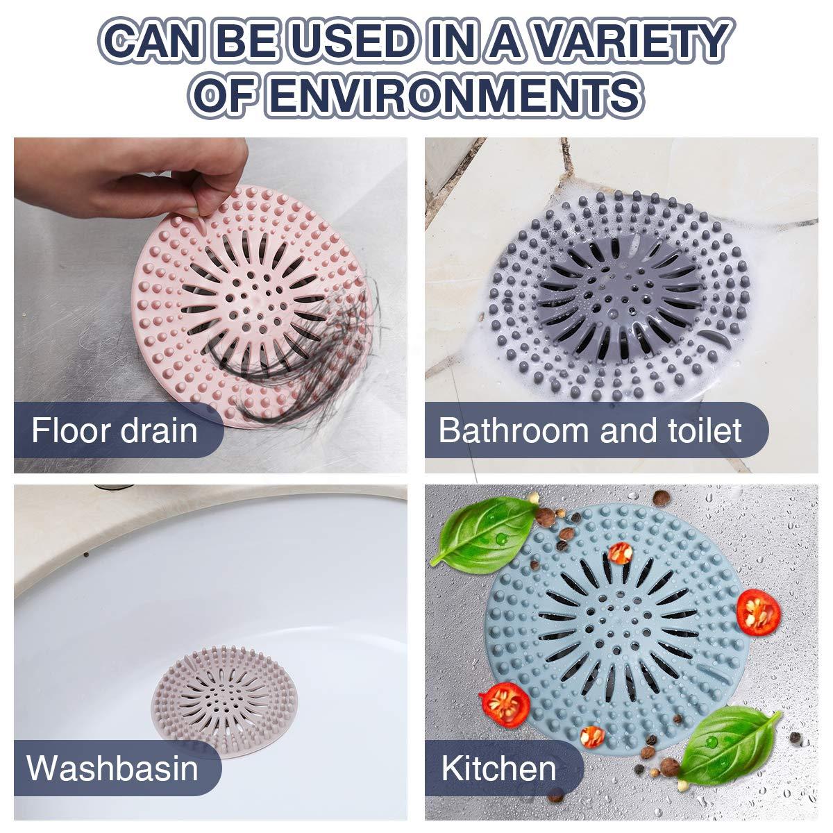 Bathroom Sink & Bathtub Accessories Bathtub Drains Hair Catcher 5 ...