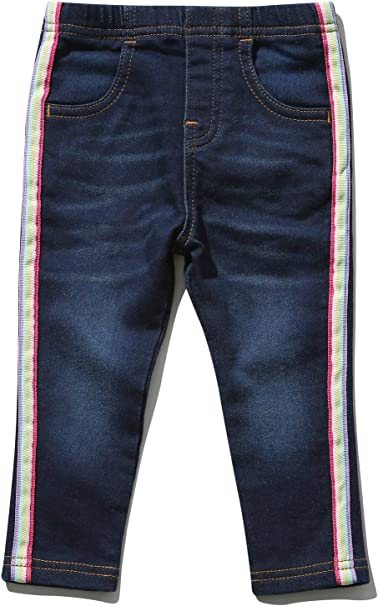 M/&Co Girls Rainbow Side Stripe Jeggings