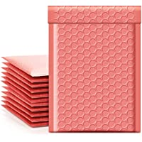 Metronic Coral Pink Bubble Mailers 4x8 Shipping Bags, 50 Pack Poly Bubble Mailers, Padded Envelopes, Packaging for Small…