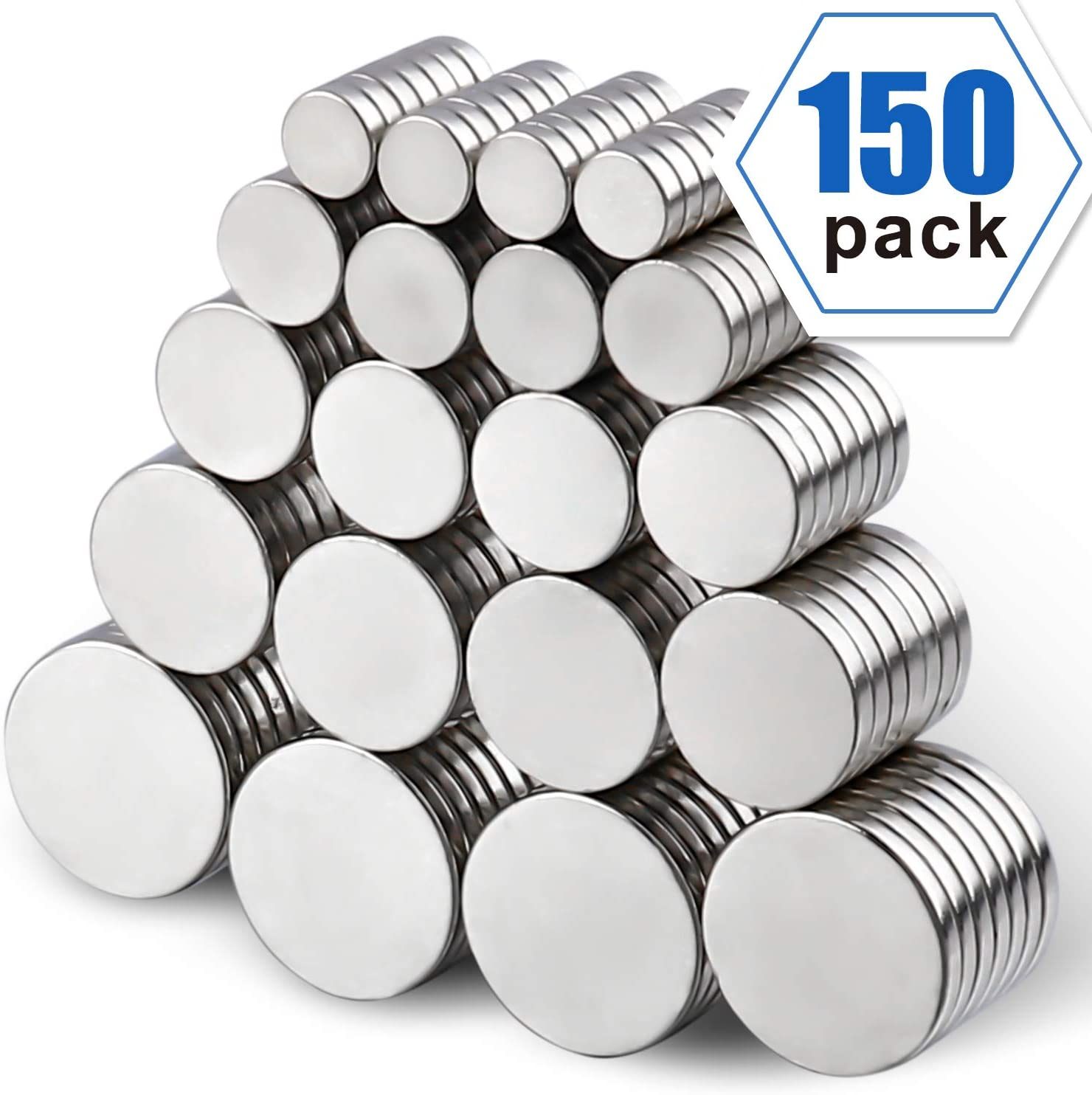 Hobbies Fridge Magnets Whiteboard Magnet Round Ceramic Industrial Ferrite Magnets Crafts and Science Push Pin Magnets LOVIMAG 150pcs Refrigerator Magnets for Office