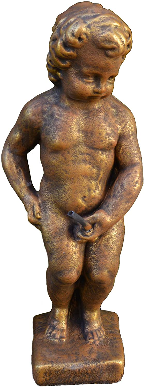 gartendekoparadies.de Statuette de mannekenpis//petit homme en train de se soulager En pierre artificielle r/ésistante au gel