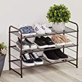 CAXXA 3-Tier Stackable and Expandable Metal Wire Utility Rack Storage for Shoe Household Accessory Organizer Shelf in…