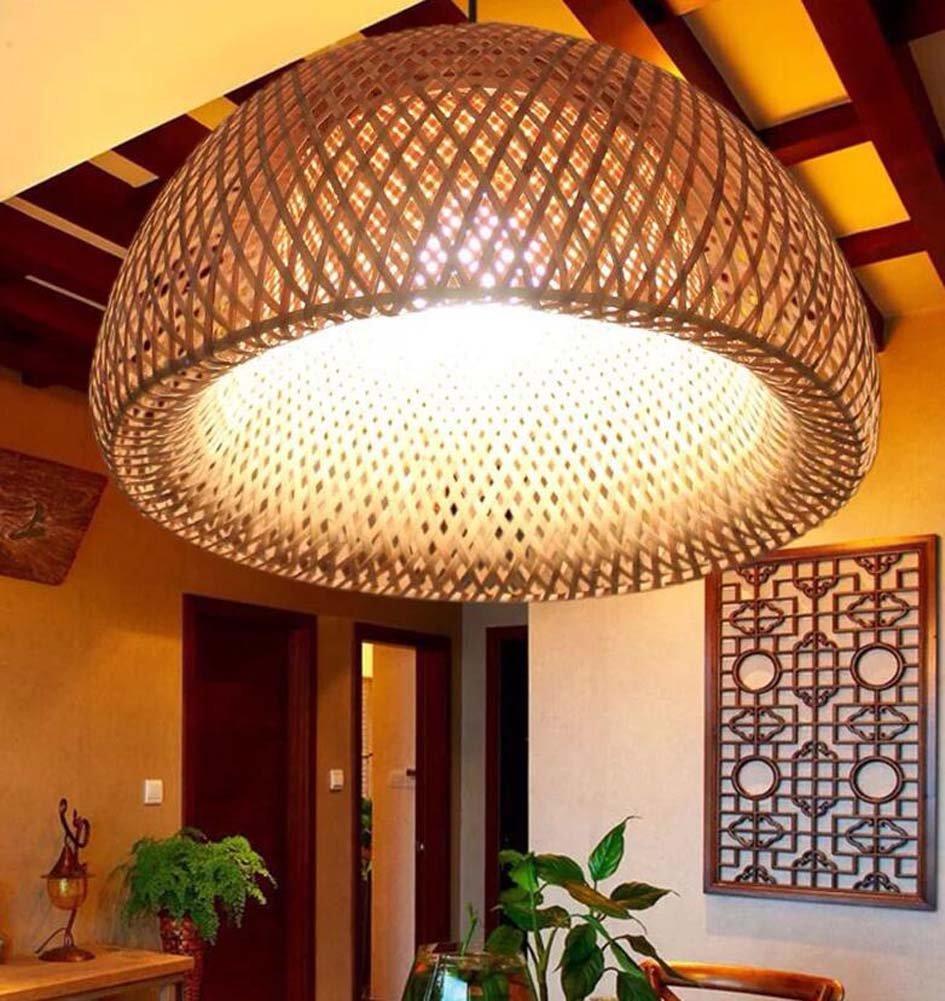 onfly中国竹シャンデリア、Hand Made竹ランタンペンダントランプ、吊り下げランプ、レストラン/通路竹ランプ(電球なし) (カラー: withoutガラスランプシェード、サイズ: 3820 CM) B07D14G4RR