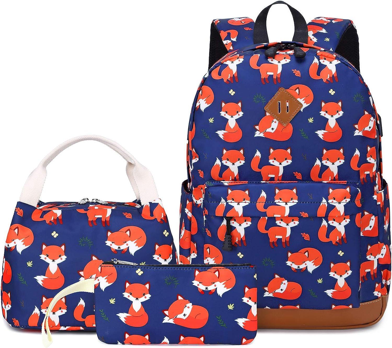 Teen Girls Boys Backpack Set Kids School Bookbag with Lunch Tote Bag Pencil Case Cute School Backpacks
