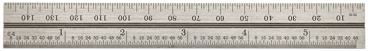 2mm Thickness 150mm Size 19mm Width Satin Chrome Finish Starrett CB150-35 Millimeter Blade For Combination Squares Sets And Bevel Protractors