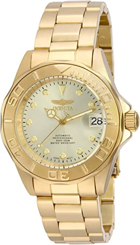 Amazon.com: Invicta Men's 17054 Pro Diver Automatic 18k Gold Ion-Plated  Stainless Steel Watch: Watches