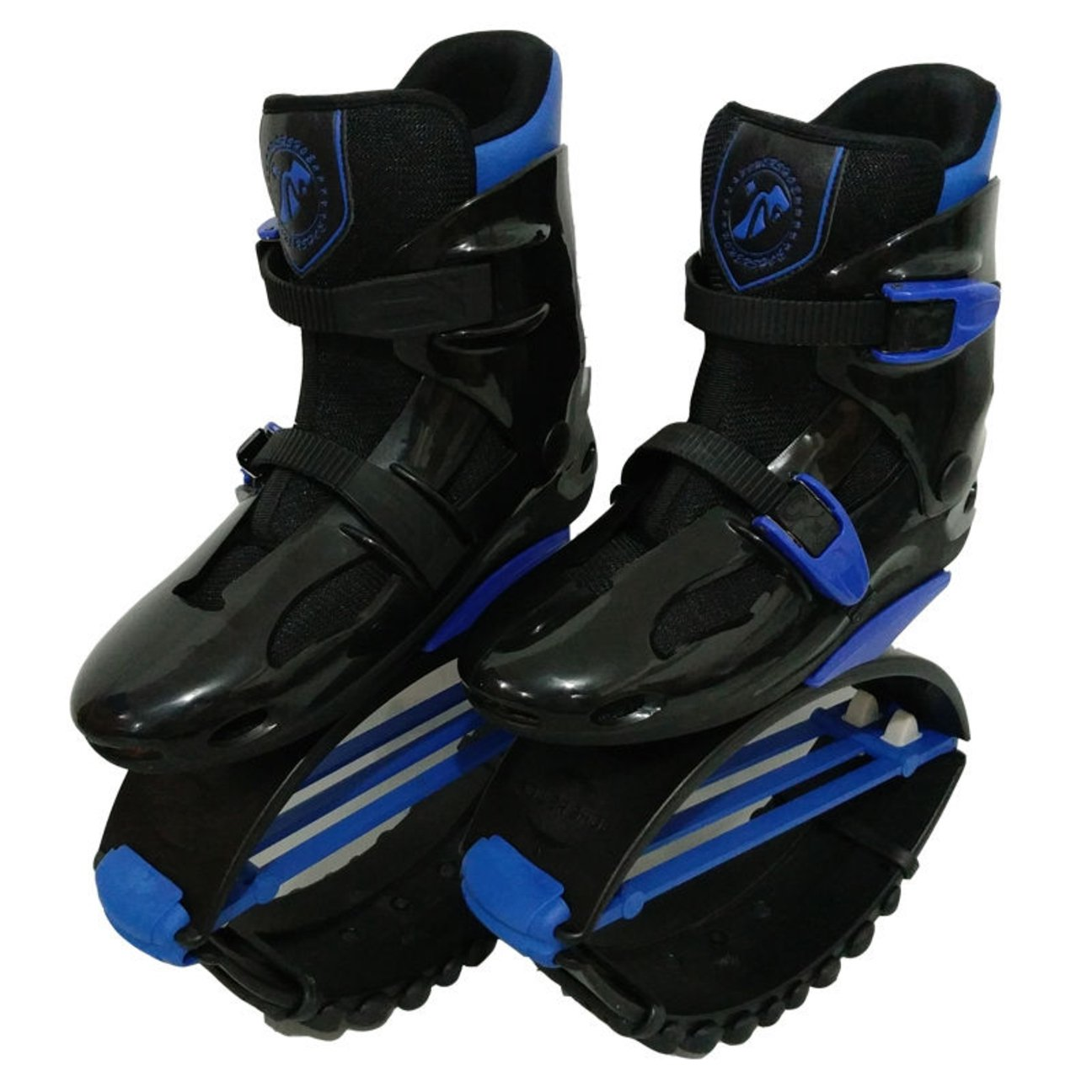 ZCOINS Unisex Kids Adults Anti-Gravity Running Boots Fitness Bounce Shoe Jumping Shoes 60-240 LBS (Black Blue, XL (Mens 8-10 for 200-240 lbs))