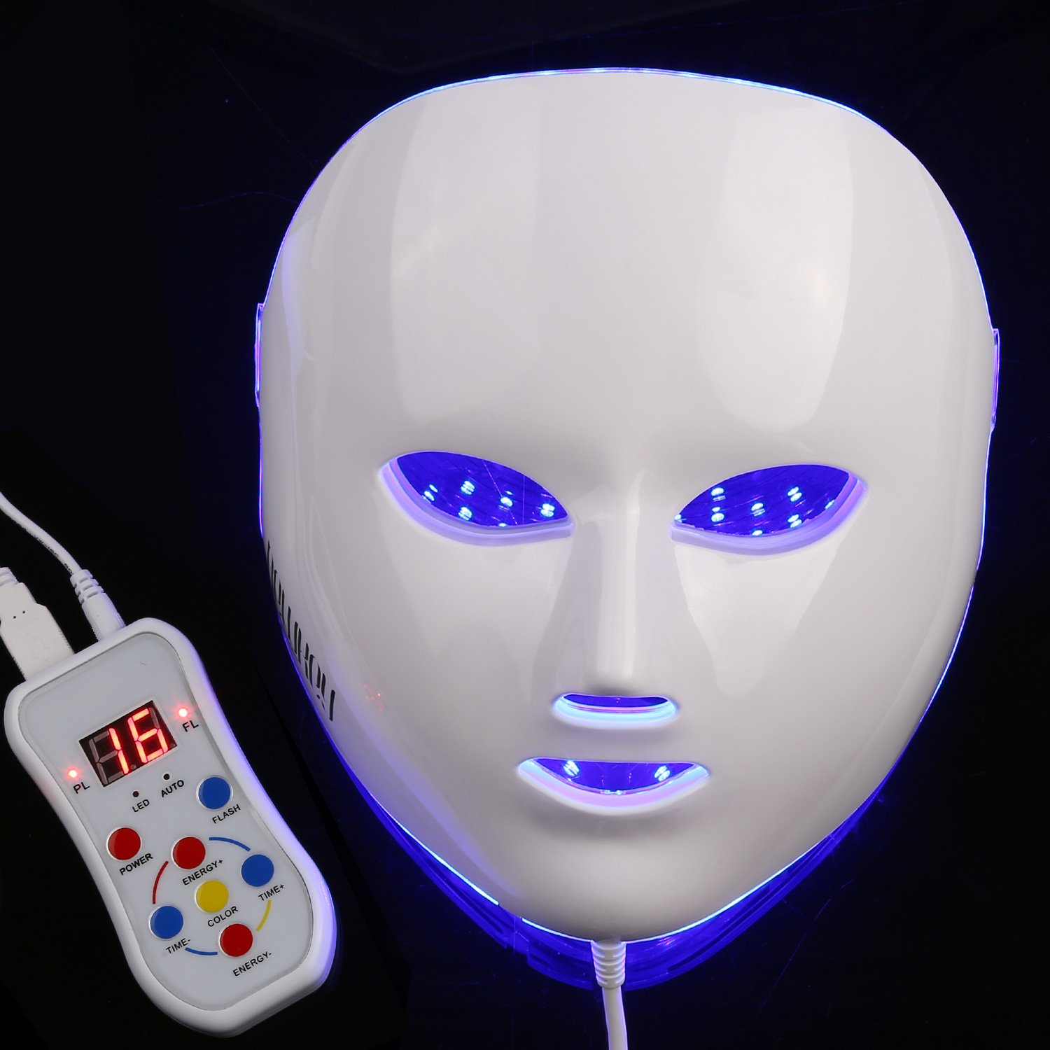 NEWKEY LED Photon Light Therapy Facial Mask Professional Anti Aging Skin Care Device for Face Whitening and Smooth - 1 YEAR WARRANTY by NEWKEY (Image #4)
