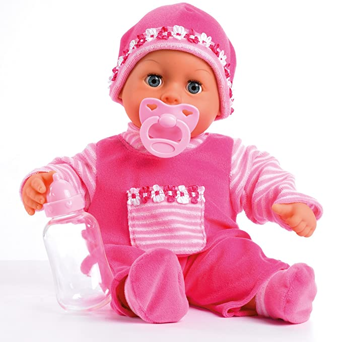 Bayer Design 15inch First Words Baby Doll In Lovely Strong Design (pink)