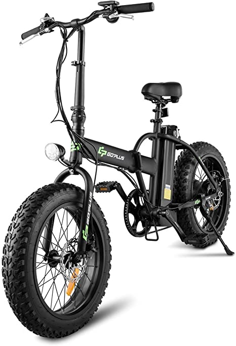 Goplus Bicicleta eléctrica Plegable 20 Pulgadas con Rueda de Grasa ...