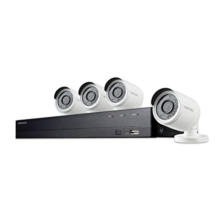 Samsung SDH-B74041 8 Channel 1080p HD 1TB Security Camera System with 4 Outdoor BNC Bullet Cameras SDC-9443BC Renewed