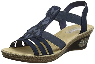 Rieker Damen V2411 Geschlossene Sandalen