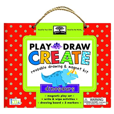 Innovative Kids Green Start Play, Draw, Create Dinosaurs Playset: Toys & Games