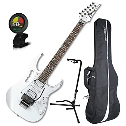 Ibanez Steve Vai Jem Jr Blanco Tamaño Completo Guitarra Eléctrica W/Gig Bag, sintonizador