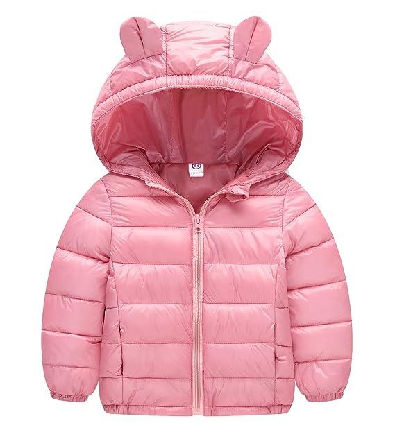 Niños Niñas Abrigo de Oso Invierno Trajes de Nieve Manga Larga Chaqueta Pluma Abajo para Bebé