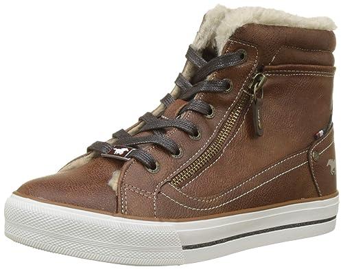 Mustang High Top Sneaker, Zapatillas Altas para Mujer, Marrón (Kastanie 301), EU: Amazon.es: Zapatos y complementos