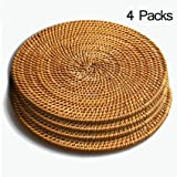 Amazon.com: KOUBOO Rectangular Rattan Placemat, Honey