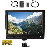 "Feelworld FW760 On-Kamera LCD Monitor 7 ""Full HD 4K HDMI für Canon Nikon Panasonic DSLR Mirrorless Kameras, F550 Akku Kit enthalten"