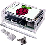 3.5 Inch TFT Touch Screen,Quimat 320x480 Resolution LCD Display with Protective Case 3Heat Sinks and Touch Pen for Raspberry Pi 3 Model B, Pi 2 Model B & Pi Model B