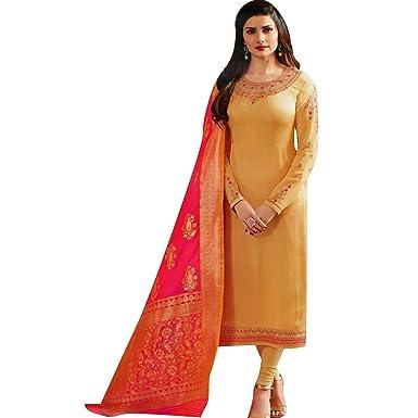 f30e53a236 Designer Wedding Partywear Silk Embroidered Salwar Kameez Indian Dress  Ready to Wear Salwar Suit Pakistani at Amazon Women's Clothing store: