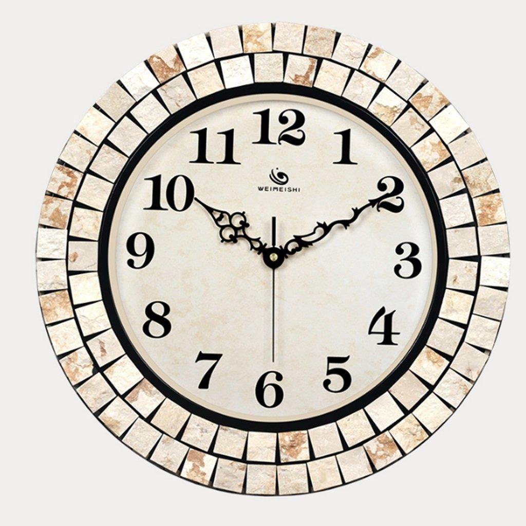ファッションの壁時計、ヨーロッパのアートクロックファッション創造的なサイレント時計アメリカの近代的なミニマリストのリビングルームの壁時計 (色 : A) B07D6Z9TTZ