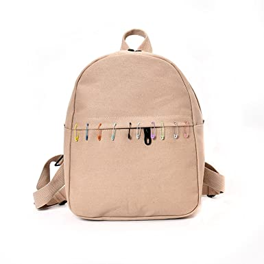 be00a6c1ad2b Image Unavailable. Image not available for. Color  Canvas Backpack Candy  Color Women Backpack Casual Girls School Bags ...