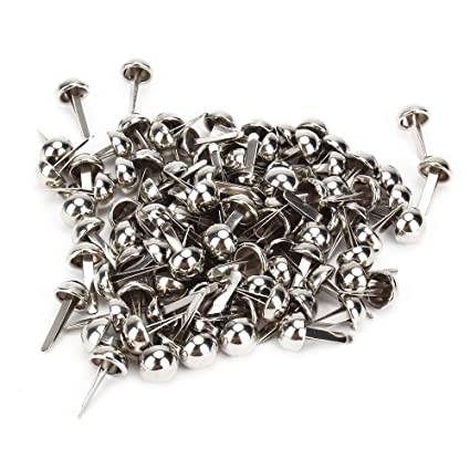 DN Silver Furniture Decorative Pins Round Dome Head Nails Tacks Pack Of 100