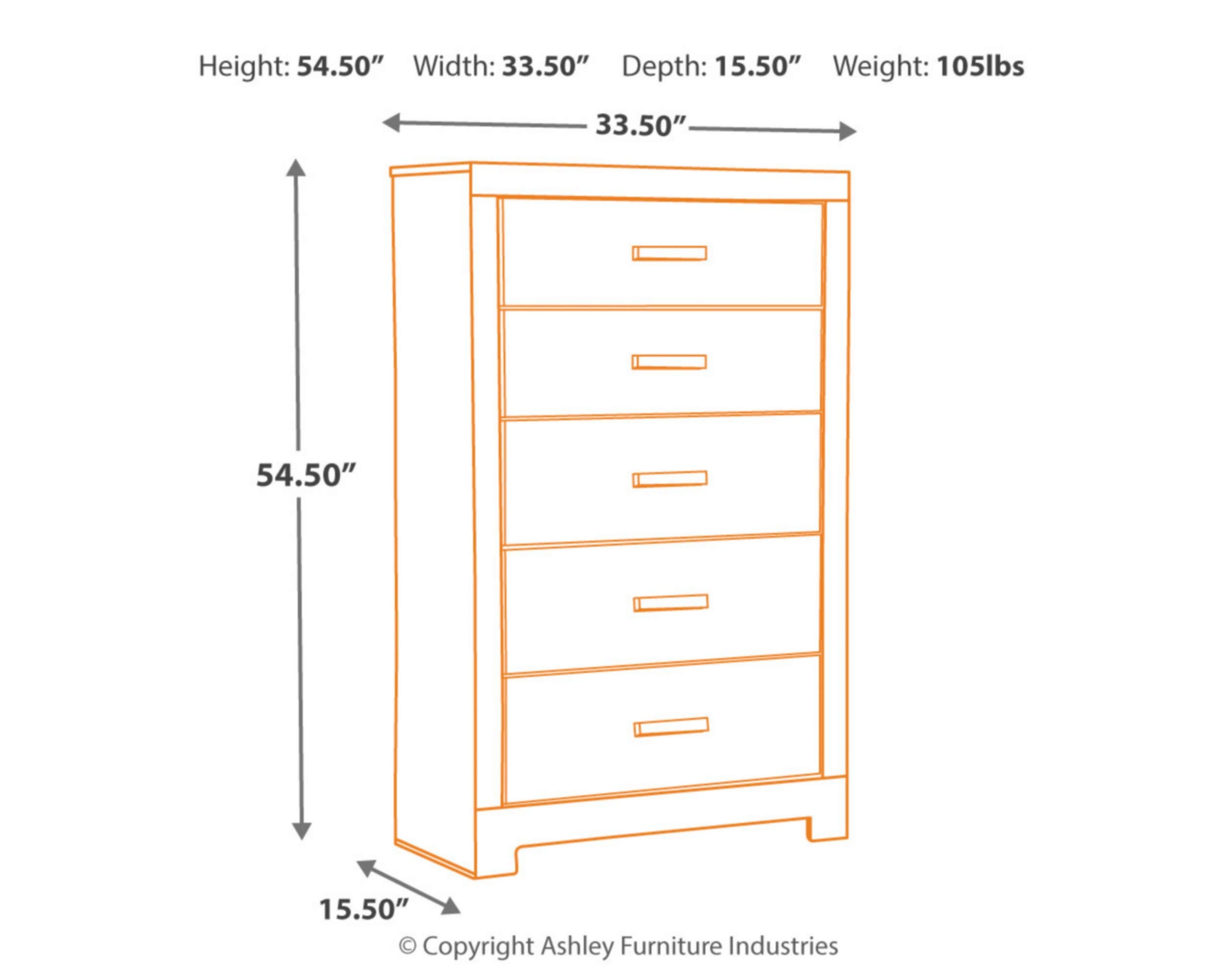 Ashley Furniture Signature Design - Harlinton Chest of Drawers - 5 Drawer Dresser - Contemporary Vintage - Warm Gray & Charcoal by Signature Design by Ashley (Image #4)