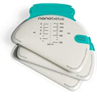 Nanobébé 50 Breastmilk Storage Bags - Cools & Thaws Evenly 2X Faster, to Protect nutrients Refill Pack, Breastfeeding…