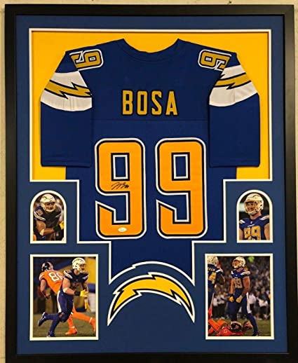 9593aa90533 FRAMED SAN DIEGO CHARGERS JOEY BOSA AUTOGRAPHED SIGNED JERSEY JSA COA at  Amazon's Sports Collectibles Store