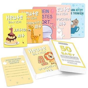 Meilensteinkarten Baby`s erstes Jahr schönste Momente Milestone cards
