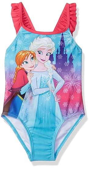6cc51b188dc5a Amazon.com: Disney Princess Toddler Girls' Frozen Swimsuit, Sky Blue ...