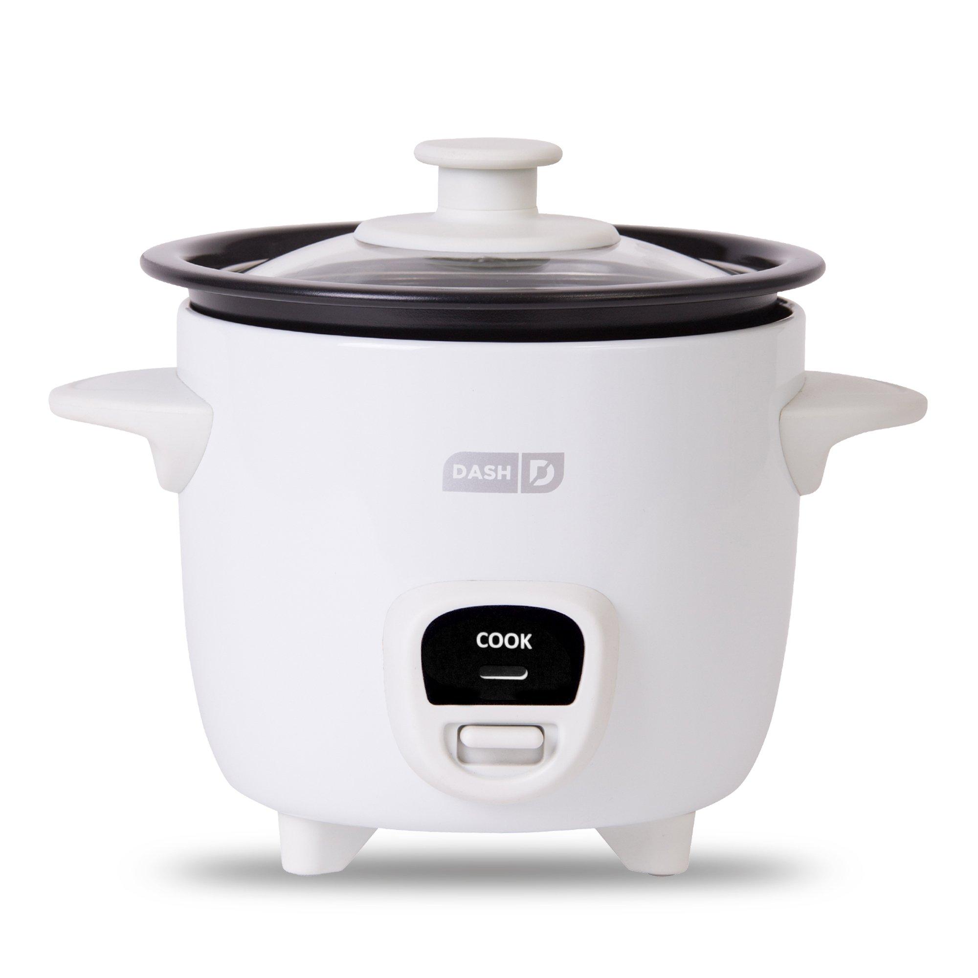 Dash DRCM100XXWH04 Rice Cooker, White