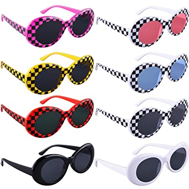 Amazon.com: SIQUK 8 Pares Gafas de sol ovaladas Retro: Clothing