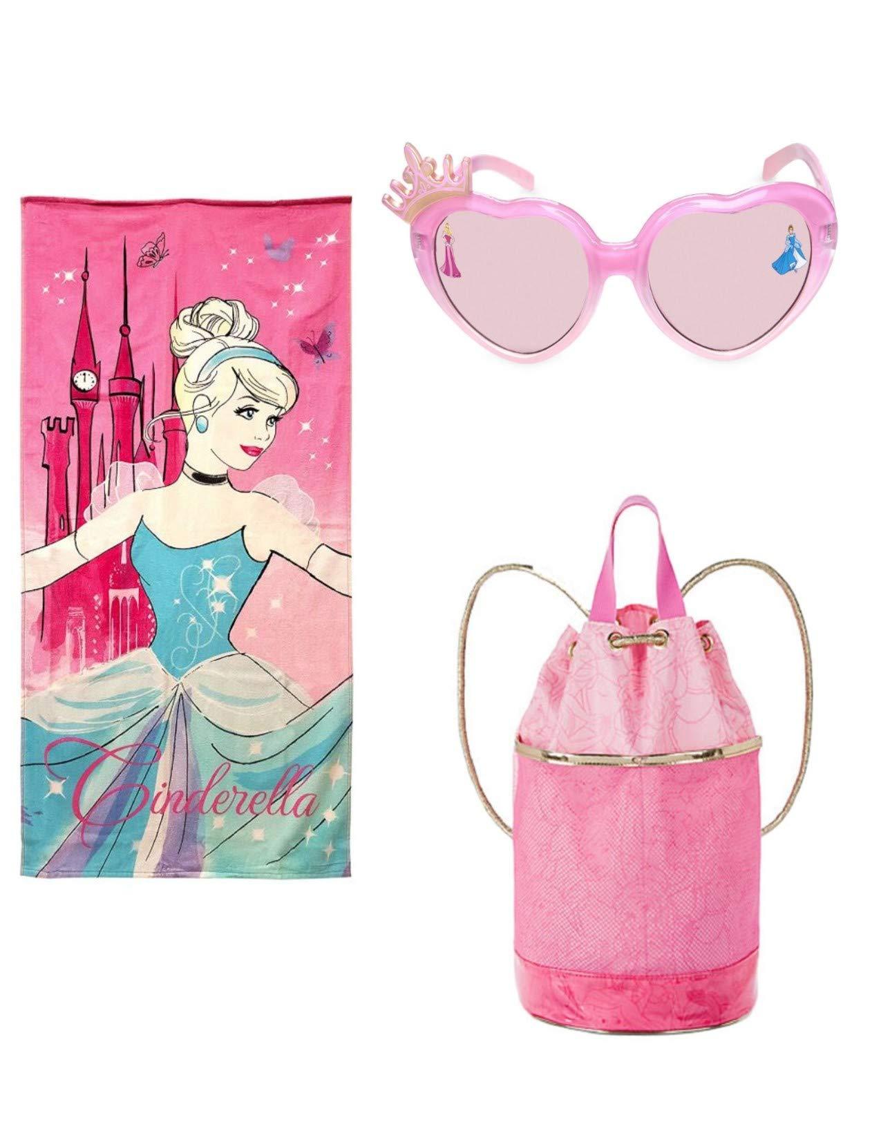 Princess Swim Beach Towel Swim Bag and Sunglasses Set Cinderella